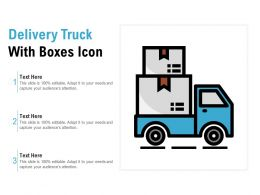 Delivery Truck With Boxes Icon