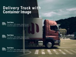 Delivery Truck With Container Image