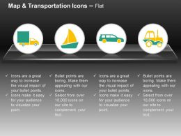 Delivery Van Boat Car Truck Ppt Icons Graphics