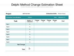 Delphi Method Change Estimation Sheet