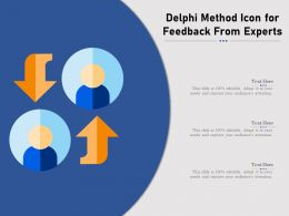 Delphi Method Icon For Feedback From Experts