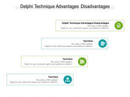 Delphi Technique Advantages Disadvantages Ppt Powerpoint Presentation Summary Cpb
