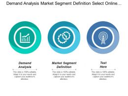 Demand Analysis Market Segment Definition Select Online Targeting