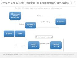 Demand And Supply Planning For Ecommerce Organization Ppt