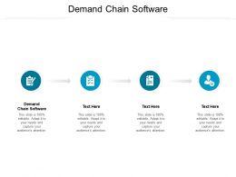 Demand Chain Software Ppt Powerpoint Presentation Layouts Portfolio Cpb