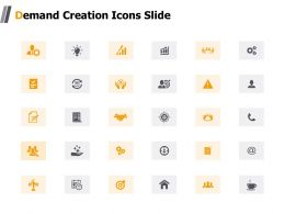 Demand Creation Icons Slide Target K19 Ppt Powerpoint Presentation Show Templates
