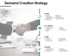 Demand Creation Strategy Caught Ppt Powerpoint Presentation Professional Example