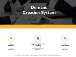 Demand Creation System Value Enhancement Ppt Powerpoint Presentation Gallery Demonstration