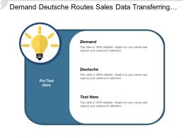 Demand Deutsche Routes Sales Data Transferring Communication Barriers Cpb