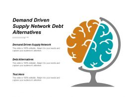 Demand Driven Supply Network Debt Alternatives Cpb