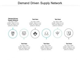 Demand Driven Supply Network Ppt Powerpoint Presentation Summary Slideshow Cpb