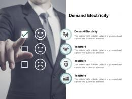 Demand Electricity Ppt Powerpoint Presentation Outline Clipart Images Cpb
