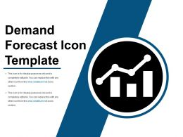 Demand Forecast Icon Layout Ppt Sample Download