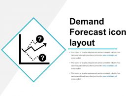 Demand Forecast Icon Template Ppt Slide Show