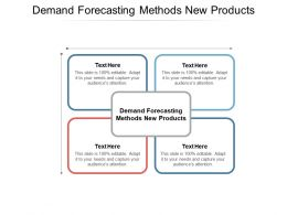 Demand Forecasting Methods New Products Ppt Powerpoint Presentation Model Cpb