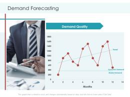 Demand Forecasting Planning And Forecasting Of Supply Chain Management Ppt Portrait