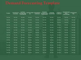 Demand Forecasting Template Ppt Professional Visual Aids