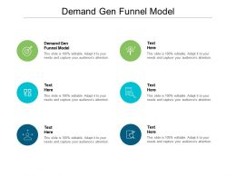 Demand Gen Funnel Model Ppt Powerpoint Presentation Summary Example Introduction Cpb