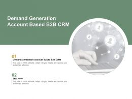 Demand Generation Account Based B2b Crm Ppt Powerpoint Presentation Pictures Good Cpb