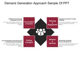 Demand Generation Approach Sample Of Ppt