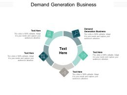 Demand Generation Business Ppt Powerpoint Presentation Pictures Inspiration Cpb