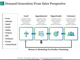 Demand Generation From Sales Perspective Ppt Icon Master Slide