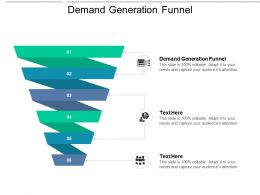 Demand Generation Funnel Ppt Powerpoint Presentation Infographics Graphics Cpb