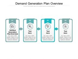 Demand Generation Plan Overview Ppt Powerpoint Presentation Gallery Pictures Cpb