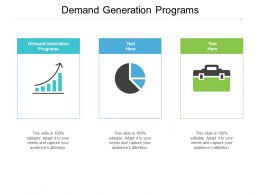Demand Generation Programs Ppt Powerpoint Presentation Professional Structure Cpb