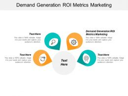 Demand Generation ROI Metrics Marketing Ppt Powerpoint Presentation Ideas Background Cpb