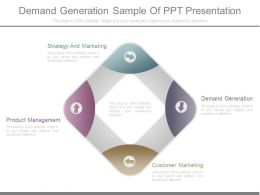 Demand Generation Sample Of Ppt Presentation