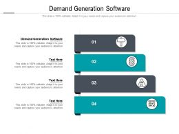 Demand Generation Software Ppt Powerpoint Presentation Infographics Guidelines Cpb