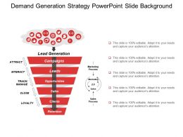 Demand Generation Strategy Powerpoint Slide Background