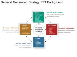 Demand Generation Strategy Ppt Background