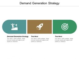Demand Generation Strategy Ppt Powerpoint Presentation File Templates Cpb