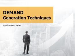 Demand Generation Techniques Powerpoint Presentation Slides