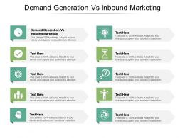 Demand Generation Vs Inbound Marketing Ppt Powerpoint Presentation Inspiration Master Slide Cpb