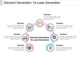 Demand Generation Vs Lead Generation Ppt Powerpoint Presentation Ideas Cpb
