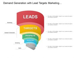Demand Generation With Lead Targets Marketing Nurturing And Sales