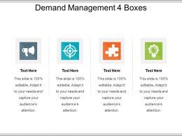 Demand Management 4 Boxes