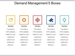 Demand Management 5 Boxes