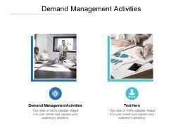 Demand Management Activities Ppt Powerpoint Presentation Styles Ideas Cpb