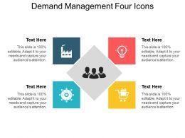 Demand Management Four Icons