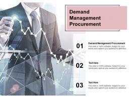 Demand Management Procurement Ppt Powerpoint Presentation Show Visual Aids Cpb