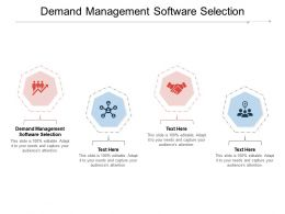 Demand Management Software Selection Ppt Powerpoint Presentation Ideas Graphics Template Cpb