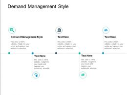 Demand Management Style Ppt Powerpoint Presentation Inspiration Format Cpb