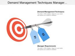 Demand Management Techniques Manager Requirements Continuous Improvement Techniques