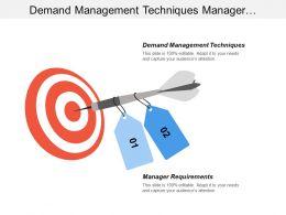 Demand Management Techniques Manager Requirements Continuous Improvement Techniques