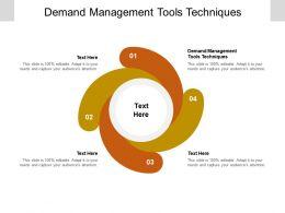 Demand Management Tools Techniques Ppt Powerpoint Presentation Model Inspiration Cpb