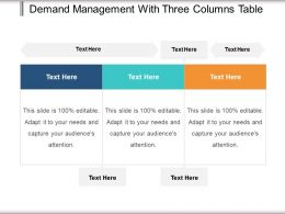 Demand Management With Three Columns Table